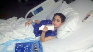 Domenic In Hospital Bed